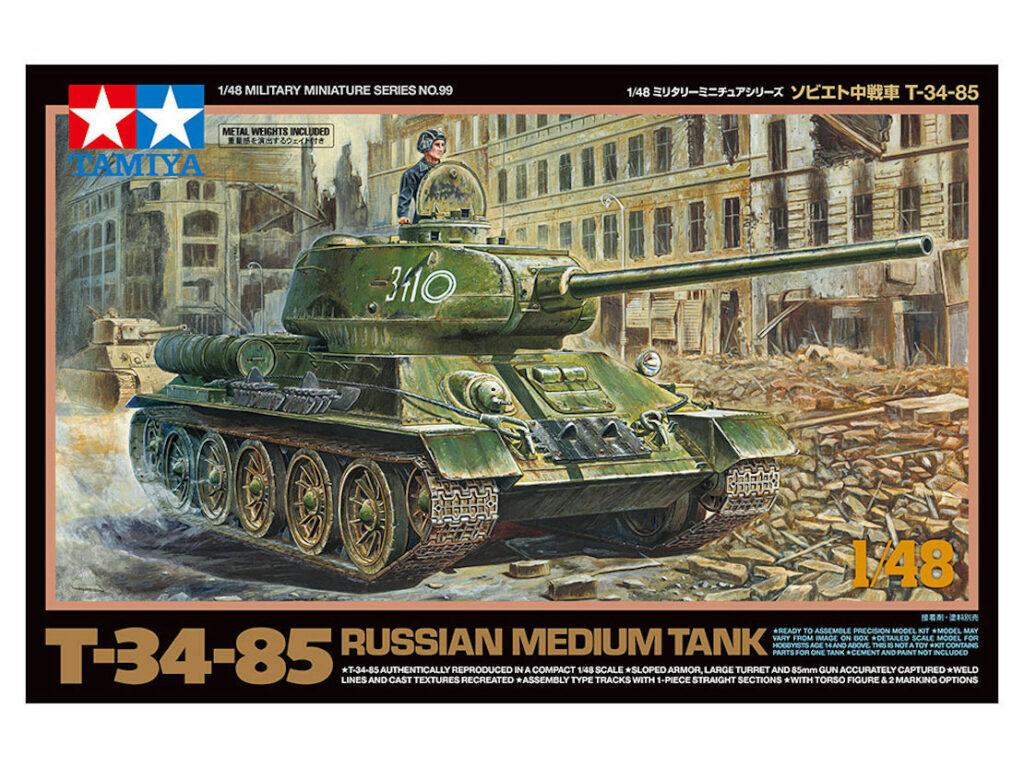 ソビエト軍の傑作T-34-85戦車がタミヤ製1/48プラモデルで登場!